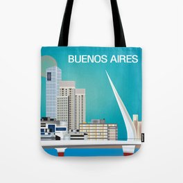 Buenos Aires, Argentina - Skyline Illustration by Loose Petals Tote Bag
