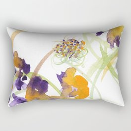 Atom Flowers No15 Rectangular Pillow