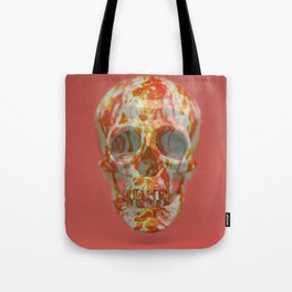 Red Candy Skull Tote Bag