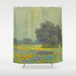 Granville Redmond (1871-1935) Landscape Flower Field Shower Curtain