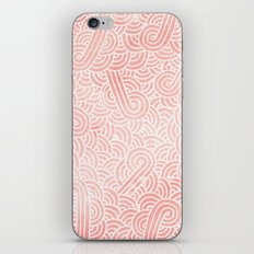 Rose quartz and white swirls doodles iPhone & iPod Skin