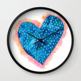 'My heart is flooded with tears' Wall Clock