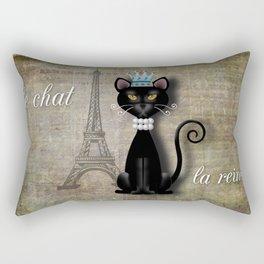 Le Chat, La Reine - The Cat, The Queen Rectangular Pillow