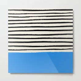 Ocean x Stripes Metal Print