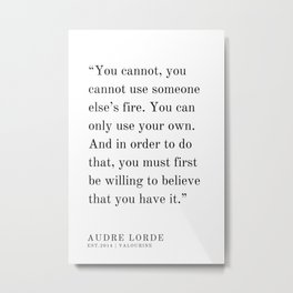 15  | Audre Lorde |Audre Lorde Quotes | 200621 | Black Excellence Metal Print