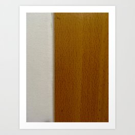 White & Wood Grain Art Print