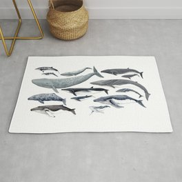 Whale diversity Rug