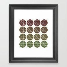 Circles Gradient  Framed Art Print