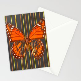 OLD WORN DESICCATED BUTTERFLY PATTERN ART Stationery Cards