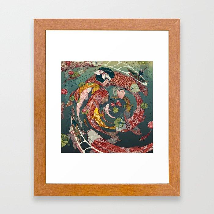 Ukiyo-e tale: The creative circle Framed Art Print