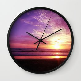 Purple Daze Wall Clock