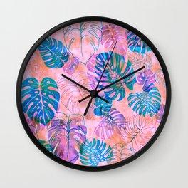 Kona Tropic Coral Wall Clock