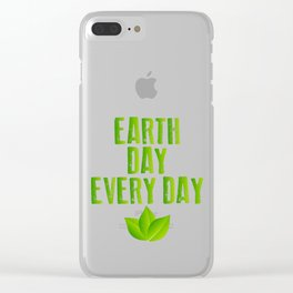 Earth Day Every Day Recycling Save The Planet Eco Clear iPhone Case