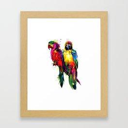 Rainbow Parrots Framed Art Print