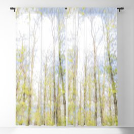 Colorful trees photography - Watercolor series #2 Blackout Curtain