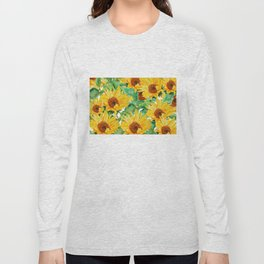 sunflower pattern Long Sleeve T-shirt