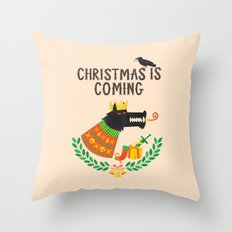 Christmas is coming Throw Pillow