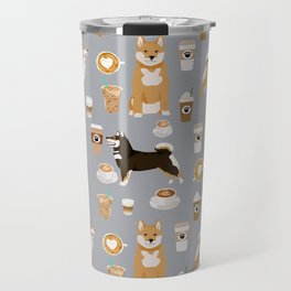 Shiba Inu coffee dog breed pet friendly pet portrait coffees pattern dogs Travel Mug