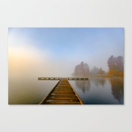 Morning fog at Green Lake, Seattle Canvas Print