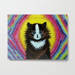 "Louis Wain's Cats ""Psychedelic Rainbow Cat"" Metal Print"