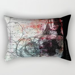 The Writing on the Wall Rectangular Pillow