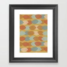 Mod Leaf Lines Framed Art Print