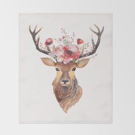 Bohemian Deer Throw Blanket
