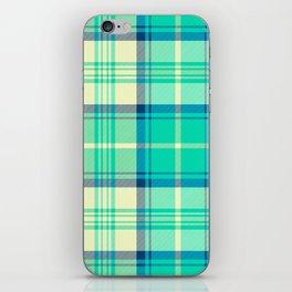 Turquoise Tartan iPhone Skin