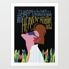 The Smiths - Heaven knows I'm miserable now Art Print