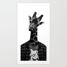 Giraffe Portriat Art Print