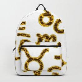 Zodiac signs seamless pattern. Horoscope symbols. Astrology background Backpack