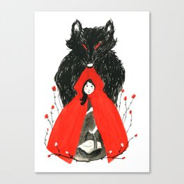 Who's Afraid of the Big Bad Wolf? Canvas Print