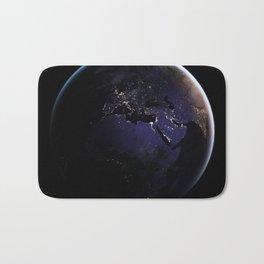 The Earth at Night 1 Bath Mat