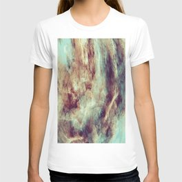 Multi-colored marble texture print.  T-shirt