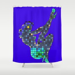 Pixelated Pin Up- Princess Peach Fan Art Shower Curtain