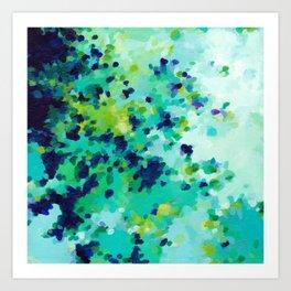Aquamarine Addiction Art Print