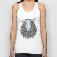 sheep Tank Tops featuring Sheep by Thea Nordal