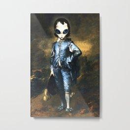 Blue Alien Painting Metal Print