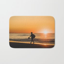 Sunset over Adriatic Sea Bath Mat