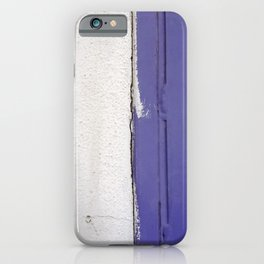 Blue White Blue iPhone Case