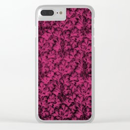 Vintage Floral Lace Leaf Pink Yarrow Clear iPhone Case