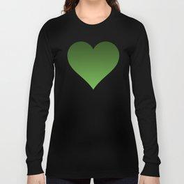 Green Ombré Gradient Long Sleeve T-shirt