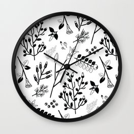 Spring Sprig Multi Wall Clock