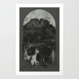 These Mountains Are A Tomb Art Print