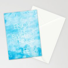 Enjoy The Simple Things In Life; Stationery Cards