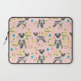 Schnauzer easter costume spring easter bunny pure breed dog pattern gifts Laptop Sleeve