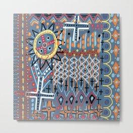African Sun Design Metal Print