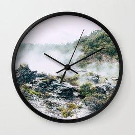 Steaming Earth Wall Clock