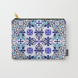 Turquoise Moroccan tile seamless pattern Carry-All Pouch
