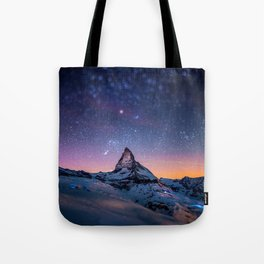 Mountain Reach the Galaxy Tote Bag